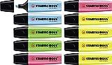 Textmarker - STABILO BOSS ORIGINAL - 10er Pack - 4x gelb, 2x blau, grün, pink