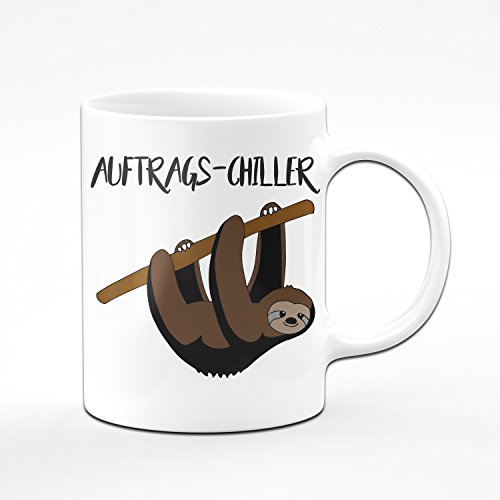 Faultier Tasse Auftrags Chiller - Kaffeetasse - Lustige Tasse