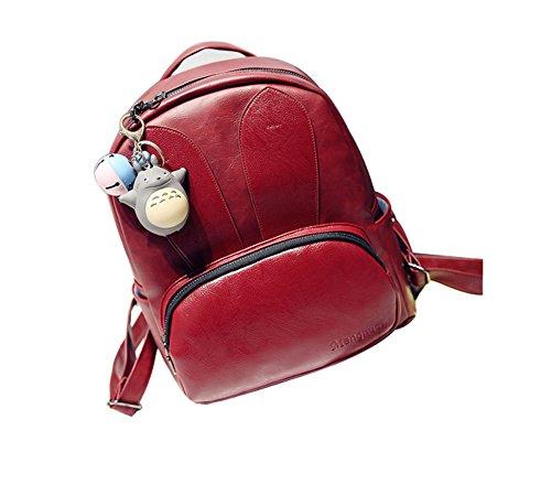 A&N , Damen Rucksackhandtasche Medium Rot