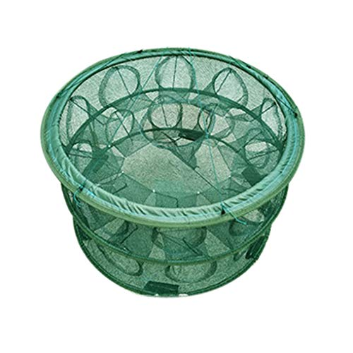 YILONG Automatisches Öffnen Fischernetz tragbare Runde Fischnetz Nylon Faltbare Crayfish Shrimp Catcher Crab Fish Trap Cages Gefaltete -