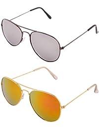 ADDON EYEWEAR Brand UV Protected Unisex Flat Aviator Sunglasses For Men Women Boys And Girls Non Polarized Goggle... - B077DN7MD1