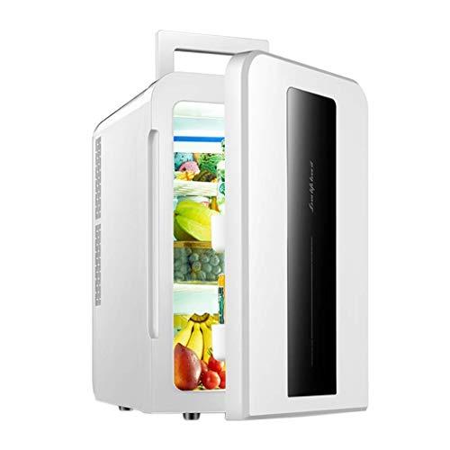 LXDDB 22L Dual-Core-Kühlschrank für Autos Mini-Kleinstkühlschrank für Haushaltsmikro-Studentenwohnheime Einzel-Doppeltür-Heiz-/Kühlbox, Weiß, Singlecore
