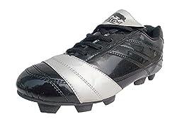 Port Ninja Black Football Stud Shoes for men (Size 9 ind/uk)