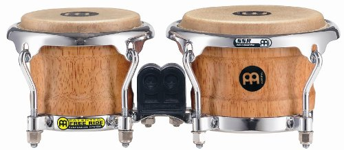 Meinl Percussion FWB100SNT-M Mini Wood Bongo-Set, Free Ride Series, Durchmesser 8,89 cm (3,5 Zoll) Macho / 10,80 cm (4,25 Zoll) Hembra, super natural