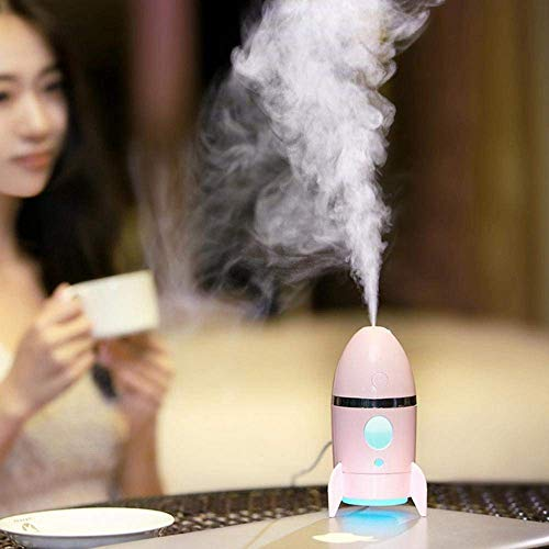 Rich N Royal Rocket Shape Humidifier Air Freshener Humidifier With LED Night Light For Car Home And Office (Multi Color)
