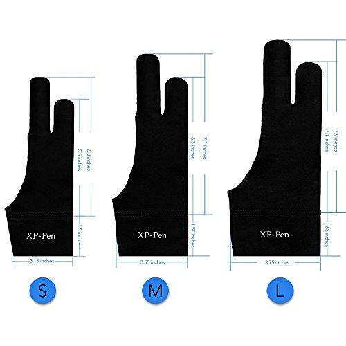 XP-PEN Elastisch Lycra Antifouling Handschuh für Grafiktablett/Pen Display/Leuchtkasten (Geeignet für rechts und Links) (S) - Für Nähmaschine Lycra