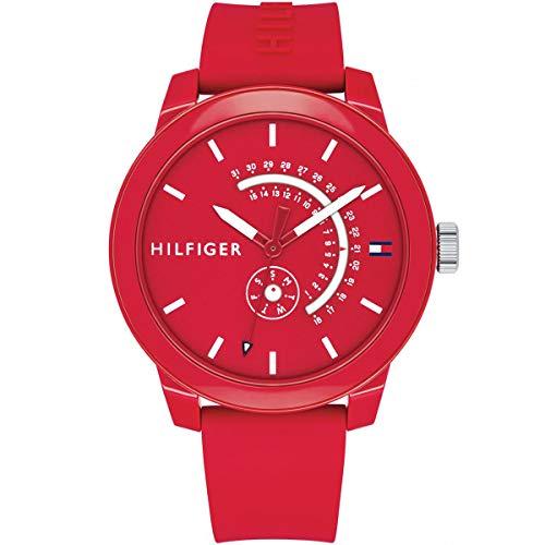 Tommy Hilfiger Unisex Analog Quarz Uhr mit Silikon Armband 1791480