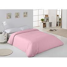 ES-TELA - Funda nórdica COMBI color Rosa - Cama de 90 cm. - 50% Algodón / 50% Poliéster - 144 Hilos