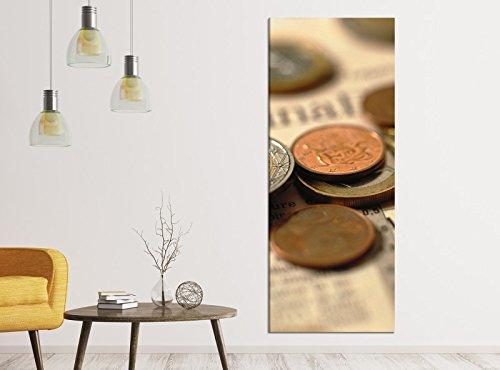 Leinwandbilder 1Tlg 40x100cm Geld Euro Börse Moneten Münze Cent Leinwandbild Kunstdruck Wand Bilder Vlies Wandbild Leinwand Bild Druck 9ZA1255, Leinwandbild Gr. 1:40cmx100cm (Sache Für 1 Cent)