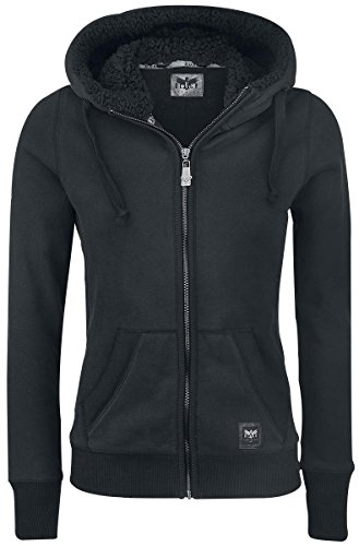 Black Premium by EMP Teddy Hooded Jacket Felpa jogging donna nero XL