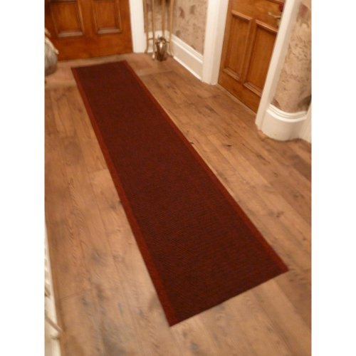 47 Sizes Available - Aztec Red - Sisal Style Carpet Runner Rug Door Mat - Any Length Runners for Hall, Hallways, Passage, Corridor, Kitchen, Caravans