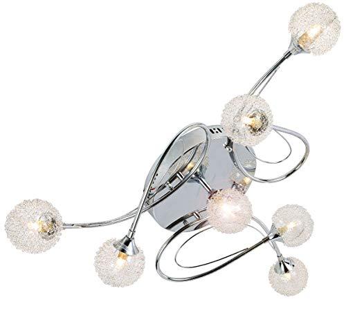 LED Design Deckenleuchte Kronleuchter Deckenlampe Deckenlicht Beleuchtung Lampe Wohn-Schlaf-Zimmer-Leuchte-Lampe 7x G9 inkl. Led Leuchtmittel XXL Ø85cm