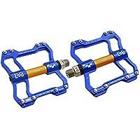 Hehh Tuoba Fish Pedales de Bicicleta, aleación de Aluminio Ultraligero de montaña rodamiento de Tobillo,Blue