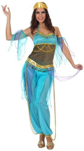 ATOSA Arabische Tänzerinnen-Kostüm in Blau für Damen - -