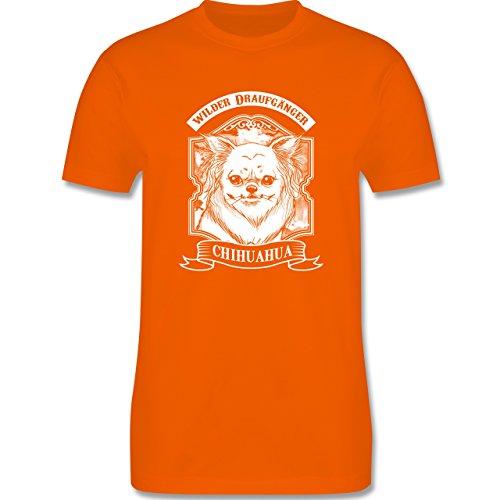Hunde - Chihuahua - wilder Draufgänger - Herren Premium T-Shirt Orange