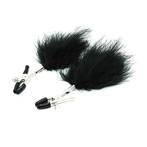 Babysbreath 1 par de plumas pezón abrazaderas clips busto masaje estimular el sexo adulto juguetes...