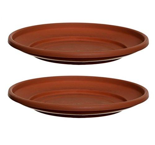 2-x-terracotta-colour-plastic-plant-pot-saucer-43cm-saucer