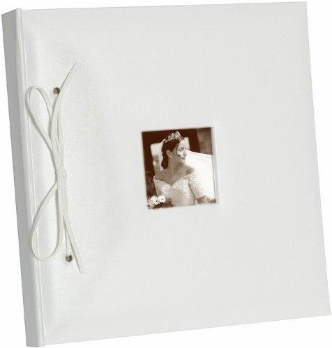 NEU Gästebuch mit Foto Fenster, weiß, 24x25 - Kostüm Ceremonie