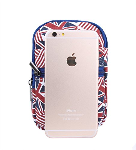 Genda 2Archer Borsa a tracolla unisex Moda Tela Phone Pouch marsupio Mini Crossbody Flag style