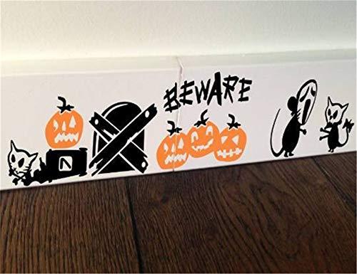 wandaufkleber baum kinderzimmer Halloween-Maus-Kürbis-Geist passen auf