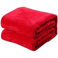 TREESTAR Mantas de bebé para niños otoño e Invierno bebé recién Nacido Copo de Nieve pequeña Manta de Pelo Manta de Siesta Size 70 * 100CM (Red)