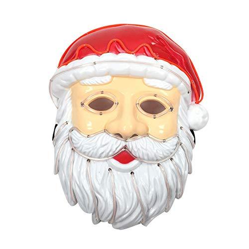 LCLrute Weihnachts-LED-Maske-glühende Kaltlicht-Masken-Kreative Rolle, die Partei-Dekoration Spielt (A)