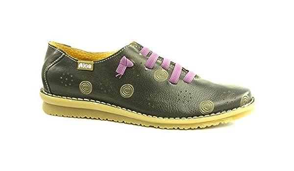 44186f8b101a65 Leather Shoe 8668 Alce shoes Black: Amazon.co.uk: Shoes & Bags