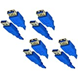 C&E 4 Pack USB 3.0 A Male To A Female Extension Cable 1 Feet Blue, CNE464119