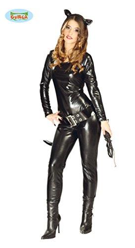 erheldin Karneval Party Kostüm für Damen schwarz Cat Gr. S-L, Größe:S/M (Party Stadt Kostüm)