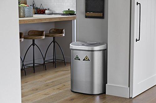poubelle capteur 70 litres poubelle automatique 100 en acier inoxydable poubelle de cuisine. Black Bedroom Furniture Sets. Home Design Ideas