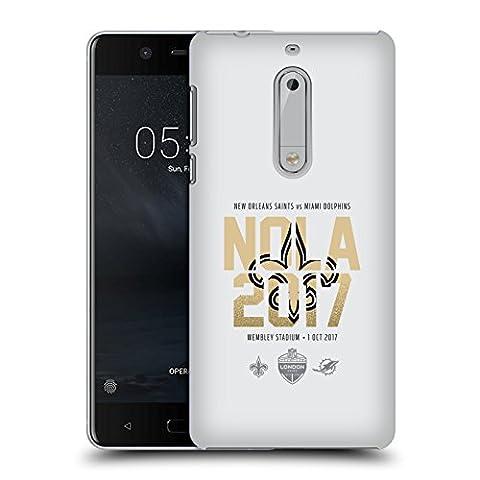 Officiel NFL New Orleans Saints Logotype 2017 London Games Teams 2 Étui Coque D'Arrière Rigide Pour Nokia 5