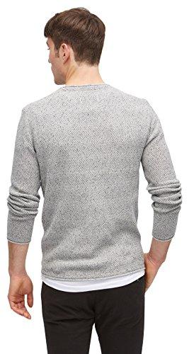 TOM TAILOR DENIM für Männer knit Strickpullover in Melange-Optik slightly  creamy ...