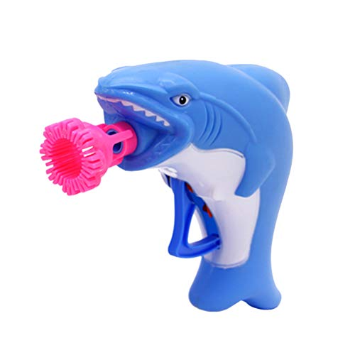 TOYANDONA 2 Stücke Kinder Blase Spielzeug Blase Gebläse Maker Shark Blase Wasser Spielzeug Sommer Spielzeug für Kinder Kinder (Shark, Blau)