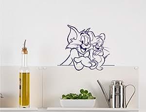 Tom And Jerry Medium Blue Wall Sticker -73*58 (cm )