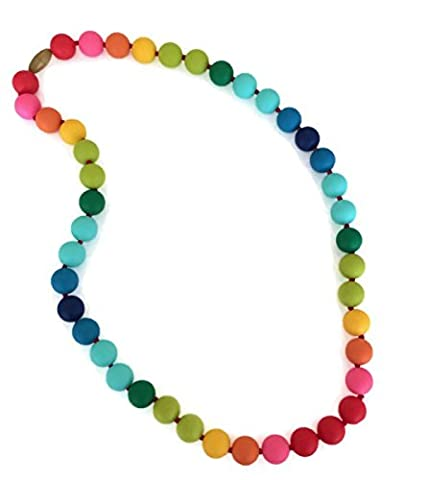 Collier de dentition Christopher Arc-en-ciel Chewbeads