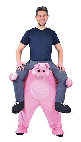 7Piggy Rückseite Pig Kostüm, 38/40Taille Größe (Schwein Maskottchen Kostüm)