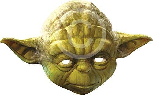 Ausgefallenes Halloween Kleid Party Welt Buch Wochentag Character Karte Das Gesicht Bedeckend Maske - Yoda, One size