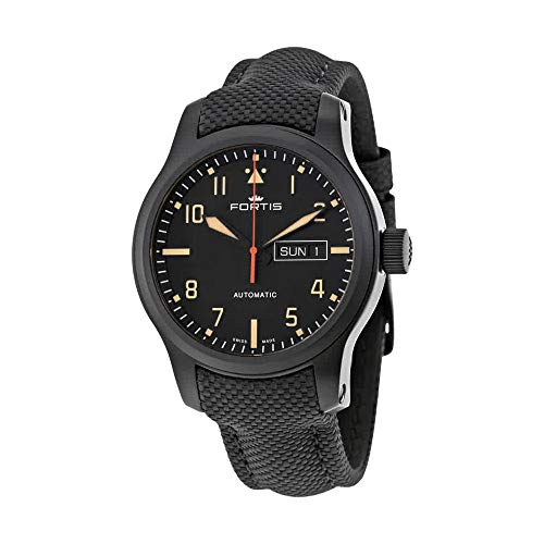 Fortis Aeromaster Stealth Automatic Watch, ETA 2836-2N, 42mm, 655.18.18 L