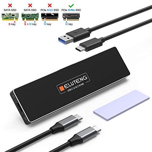 ELUTENG Carcasa USB C a M.2 NVME