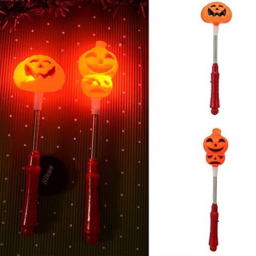 WSJDE Halloween Solar Licht Kürbis Schädel Led Flash Glow Light Sticks Stake Party Decor Halloween Requisiten Dress Up Zubehör