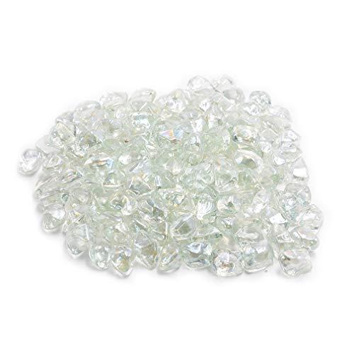 Skyflame 3 Pfund-Feuerglas-Perlen für Feuerstelle/Landschaftsbau, 1,3 cm, Kristall (Propan Kamin Heizung)