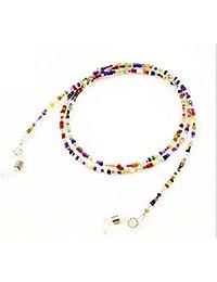 QILEGN - Cadena para gafas, multicolor, cadena de cordón (colorida)