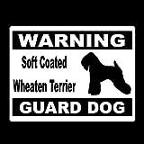 14cm * 10.7cm Avvertimento Rivestito morbido Terrier Wheaten Cane da guardia Vinile Coda di automobile Vinile Car Sticker Adesivo autoadesivo Adesivo per auto Moto Decorazioni