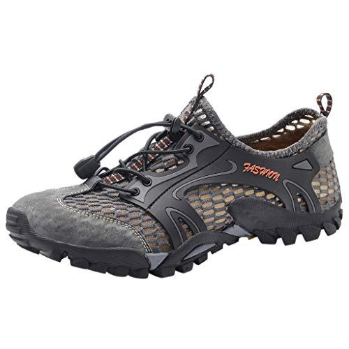 POLPqeD Sneakers Sportivi Estivi Uomo Trekking Scarpe da Spiaggia All'aperto Pescatore Piscina Acqua Mare Escursionismo Leggero