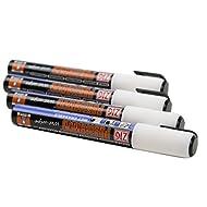 Posterman - Confezione da 4 pennarelli a gesso liquido, 6 mm, colore bianco