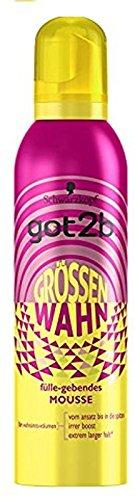 Schwarzkopf Got2b Schaumfestiger Grössenwahn Haarspray, 3er Pack (3 x 250 ml)