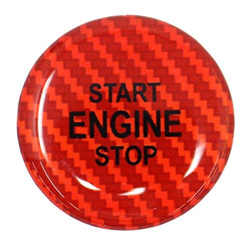 /Finest Folia bot/ón Inicio Gel Emblema Start Stop bot/ón protectora Pegatinas Keyless Go Carbon Impresi/ón Interruptor tastenabdeckung Cover encendido/