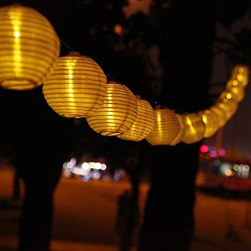 Led Lichterkette 20er Batterienbetriebene Lampions Laterne für Party, Garten, Weihnachten, Halloween, Hochzeit, Beleuchtung Deko usw. 4,2M warmweiß (30L)