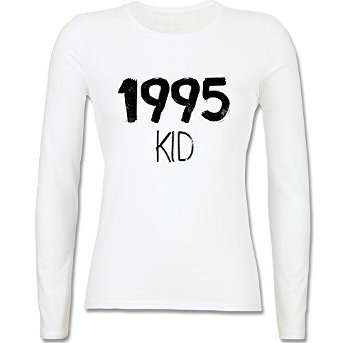 Geburtstag - 1995 KID - tailliertes Longsleeve / langärmeliges T-Shirt für Damen Weiß