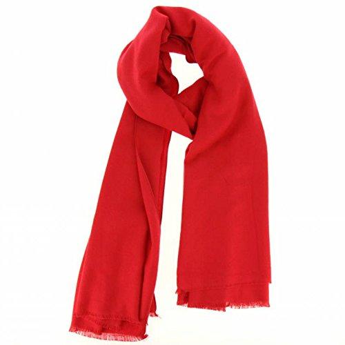 Fashiongen - Echarpe, pashmina laine 190 cm Bachra Rouge
